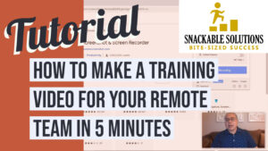 how to make a training video for your remote team