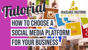 how to choose a social media platform for your business